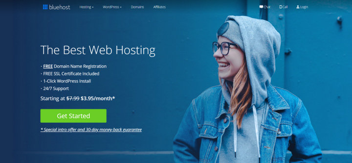 Bluehost cheap web hosting service