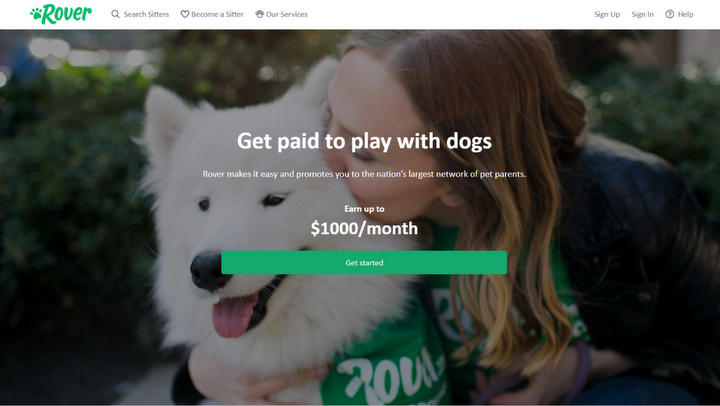 Get paid to play with dogs. Rover, Earn up to $1000/month