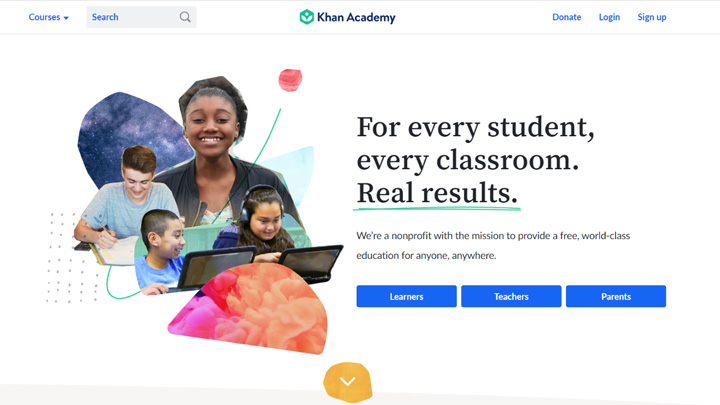 Khan Academy to learn new skills free